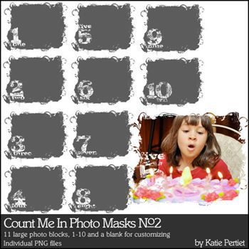Count Me In Photo Masks No. 02 Digital Art - Digital Scrapbooking Kits