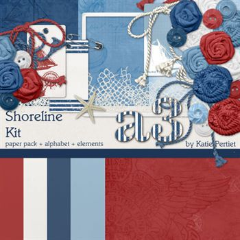 Shoreline Kit Digital Art - Digital Scrapbooking Kits