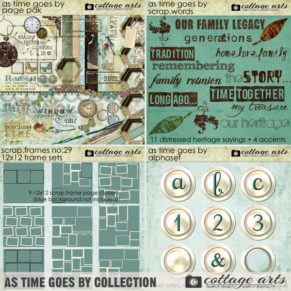 As Time Goes By Collection Digital Art - Digital Scrapbooking Kits