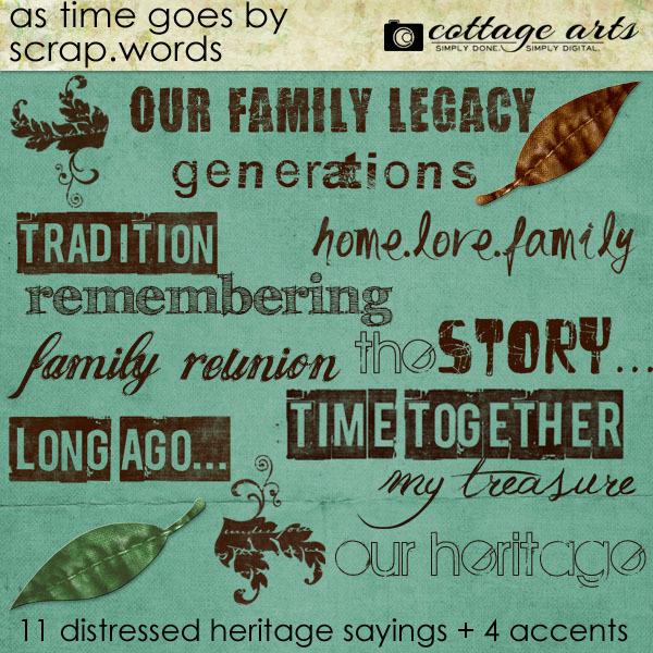 As Time Goes By Scrap.words Digital Art - Digital Scrapbooking Kits