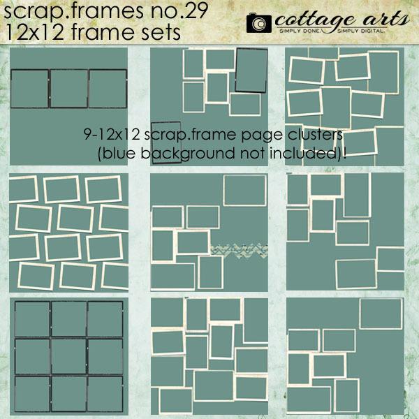 Scrap.frames 29 - Frame Sets Digital Art - Digital Scrapbooking Kits