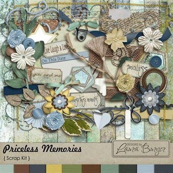 Priceless Memories Digital Art - Digital Scrapbooking Kits