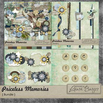 Priceless Memories Bundle Digital Art - Digital Scrapbooking Kits