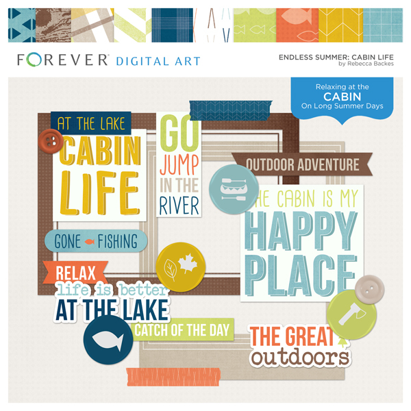 Endless Summer Cabin Life Digital Art - Digital Scrapbooking Kits
