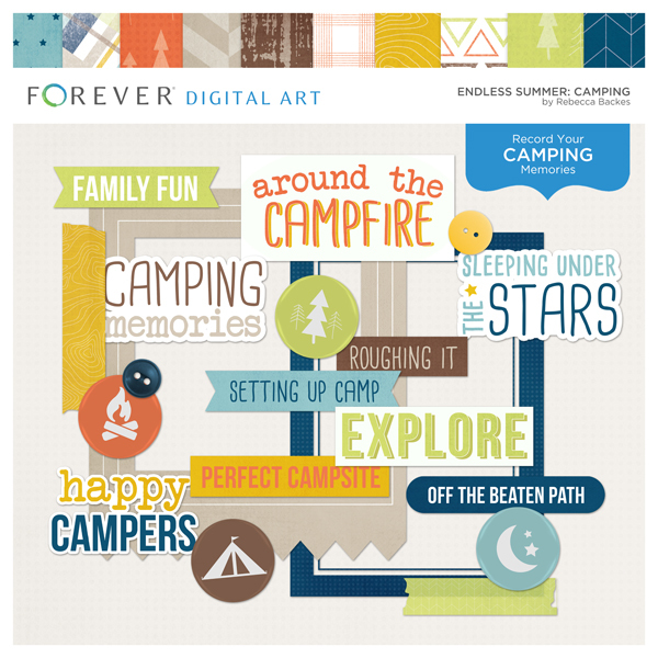 Endless Summer Camping Digital Art - Digital Scrapbooking Kits