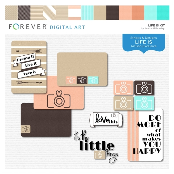 Life Is Kit Digital Art - Digital Scrapbooking Kits