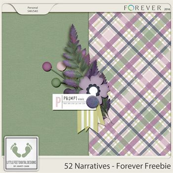 52 Narratives - Forever Freebie Digital Art - Digital Scrapbooking Kits