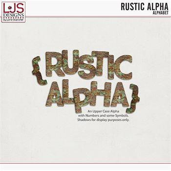 Rustic Alpha Digital Art - Digital Scrapbooking Kits