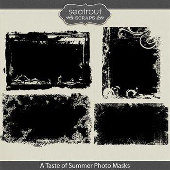 A Taste Of Summer Photo Masks Digital Art - Digital Scrapbooking Kits