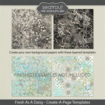 Fresh As A Daisy Create-a-page Templates Digital Art - Digital Scrapbooking Kits