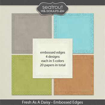 Fresh As A Daisy Embossed Edge Papers