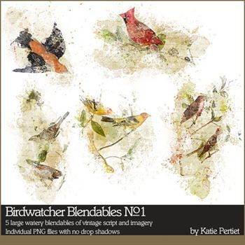 Birdwatcher Blendables No. 01 Digital Art - Digital Scrapbooking Kits