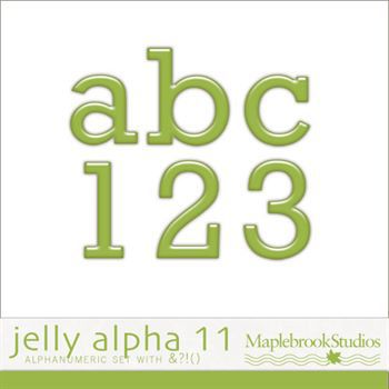 Jelly Alphabet No. 11 Digital Art - Digital Scrapbooking Kits