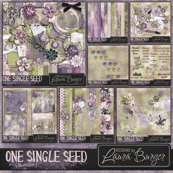 One Single Seed Bundle Digital Art - Digital Scrapbooking Kits