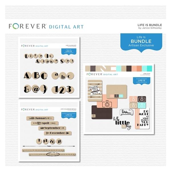 Life Is Bundle Digital Art - Digital Scrapbooking Kits