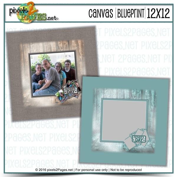 12x12 Father's Day 2016 Canvas Digital Art - Digital Scrapbooking Kits
