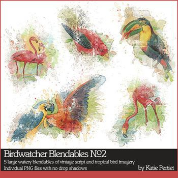 Birdwatcher Blendables No. 02 Digital Art - Digital Scrapbooking Kits