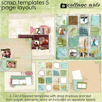 12 X 12 Scrap.templates 5 Digital Art - Digital Scrapbooking Kits