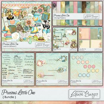 Precious Little One Bundle Digital Art - Digital Scrapbooking Kits