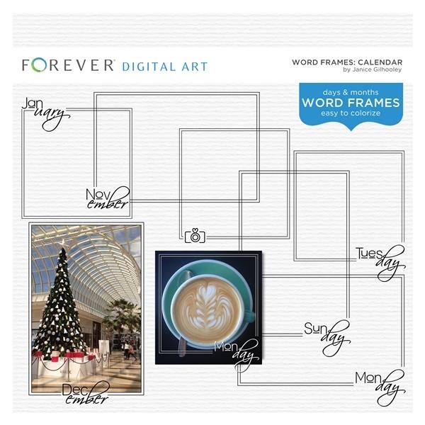 Word Frames Calendar