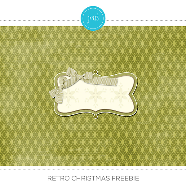 Retro Christmas Freebie Digital Art - Digital Scrapbooking Kits