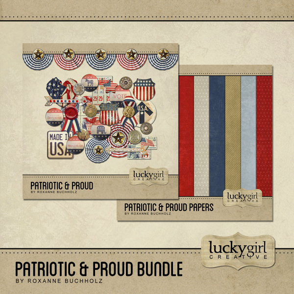 Patriotic And Proud Bundle Digital Art - Digital Scrapbooking Kits