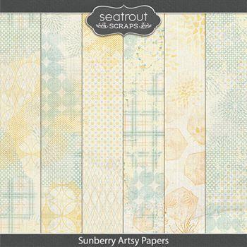 Sunberry Artsy Papers Digital Art - Digital Scrapbooking Kits
