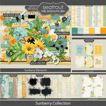 Sunberry Bundled Collection Digital Art - Digital Scrapbooking Kits