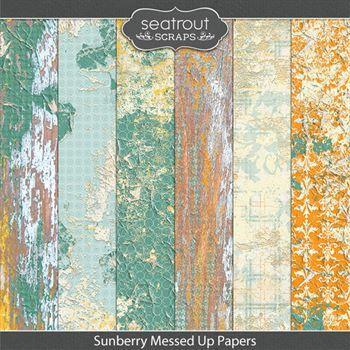 Sunberry Messed Up Papers Digital Art - Digital Scrapbooking Kits