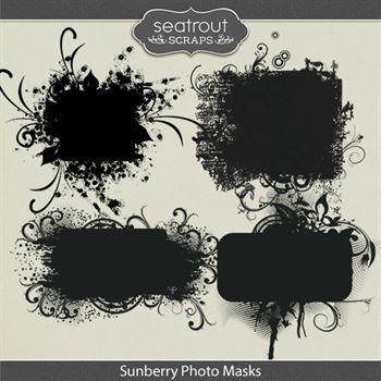 Sunberry Photo Masks Digital Art - Digital Scrapbooking Kits