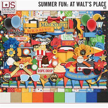 Summer Fun - At Walt's Place - Kit Digital Art - Digital Scrapbooking Kits