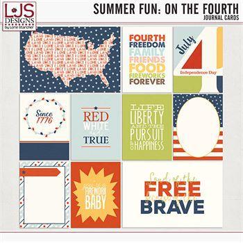 Summer Fun - On The Fourth - Cards Digital Art - Digital Scrapbooking Kits
