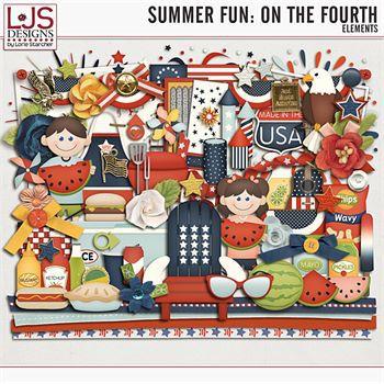 Summer Fun - On The Fourth - Elements Digital Art - Digital Scrapbooking Kits