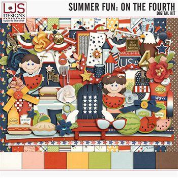 Summer Fun - On The Fourth - Kit Digital Art - Digital Scrapbooking Kits