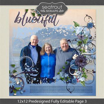 12 X 12 Predesigned Editable Page 3 Digital Art - Digital Scrapbooking Kits