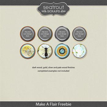Make A Flair Freebie Digital Art - Digital Scrapbooking Kits