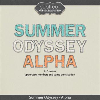 Summer Odyssey Alpha Digital Art - Digital Scrapbooking Kits