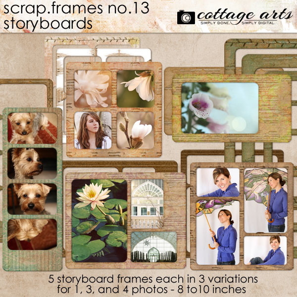 Scrap.Frames 13 – Storyboards  Digital Art - Digital Scrapbooking Kits