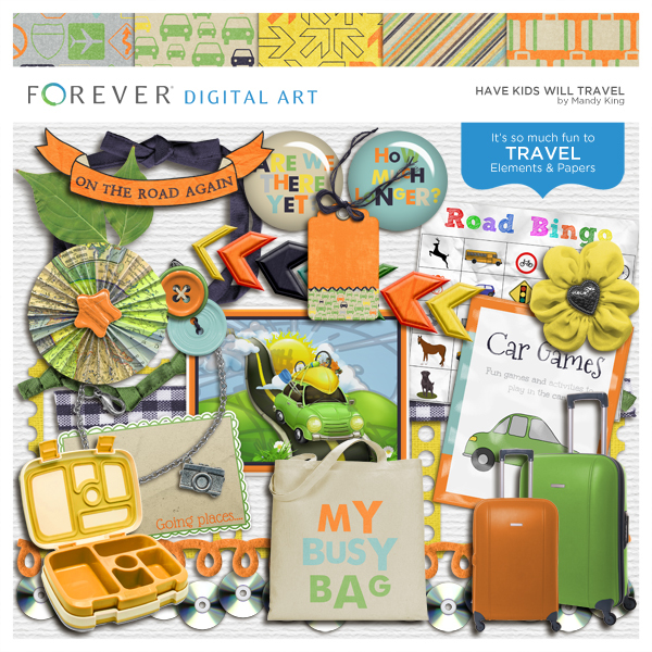 Have Kids Will Travel Digital Art - Digital Scrapbooking Kits