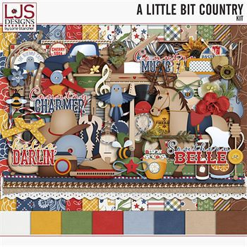 A Little Bit Country - Kit Digital Art - Digital Scrapbooking Kits