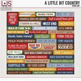 A Little Bit Country - Word Art