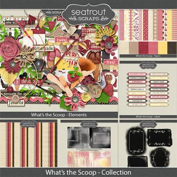 What's The Scoop Bundled Collection Digital Art - Digital Scrapbooking Kits