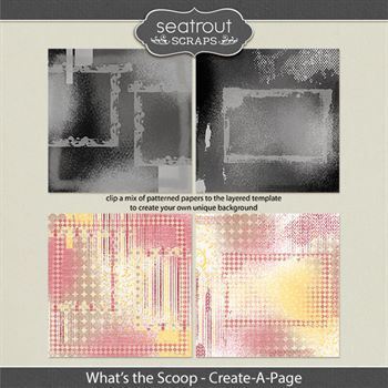 What's The Scoop Create-a-page Templates Digital Art - Digital Scrapbooking Kits