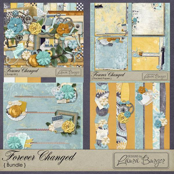 Forever Changed Bundle Digital Art - Digital Scrapbooking Kits