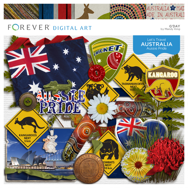 G'day Kit Digital Art - Digital Scrapbooking Kits