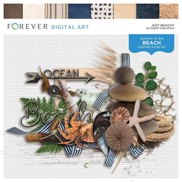 Just Beachy Digital Art - Digital Scrapbooking Kits
