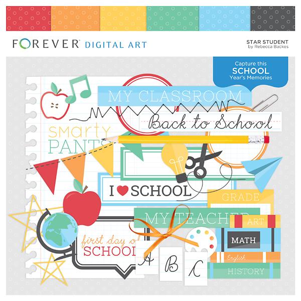 Star Student Digital Art - Digital Scrapbooking Kits