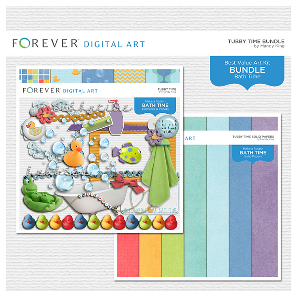 Tubby Time Bundle Digital Art - Digital Scrapbooking Kits