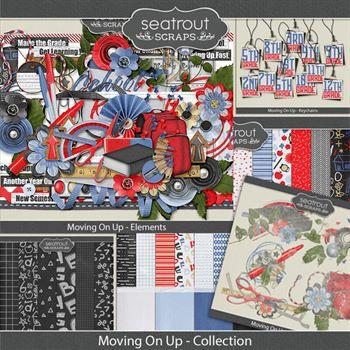 Moving On Up Bundled Collection Digital Art - Digital Scrapbooking Kits