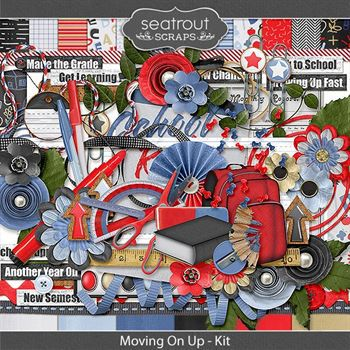 Moving On Up Kit Digital Art - Digital Scrapbooking Kits